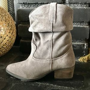 Charles David Suede Western Mini Boot